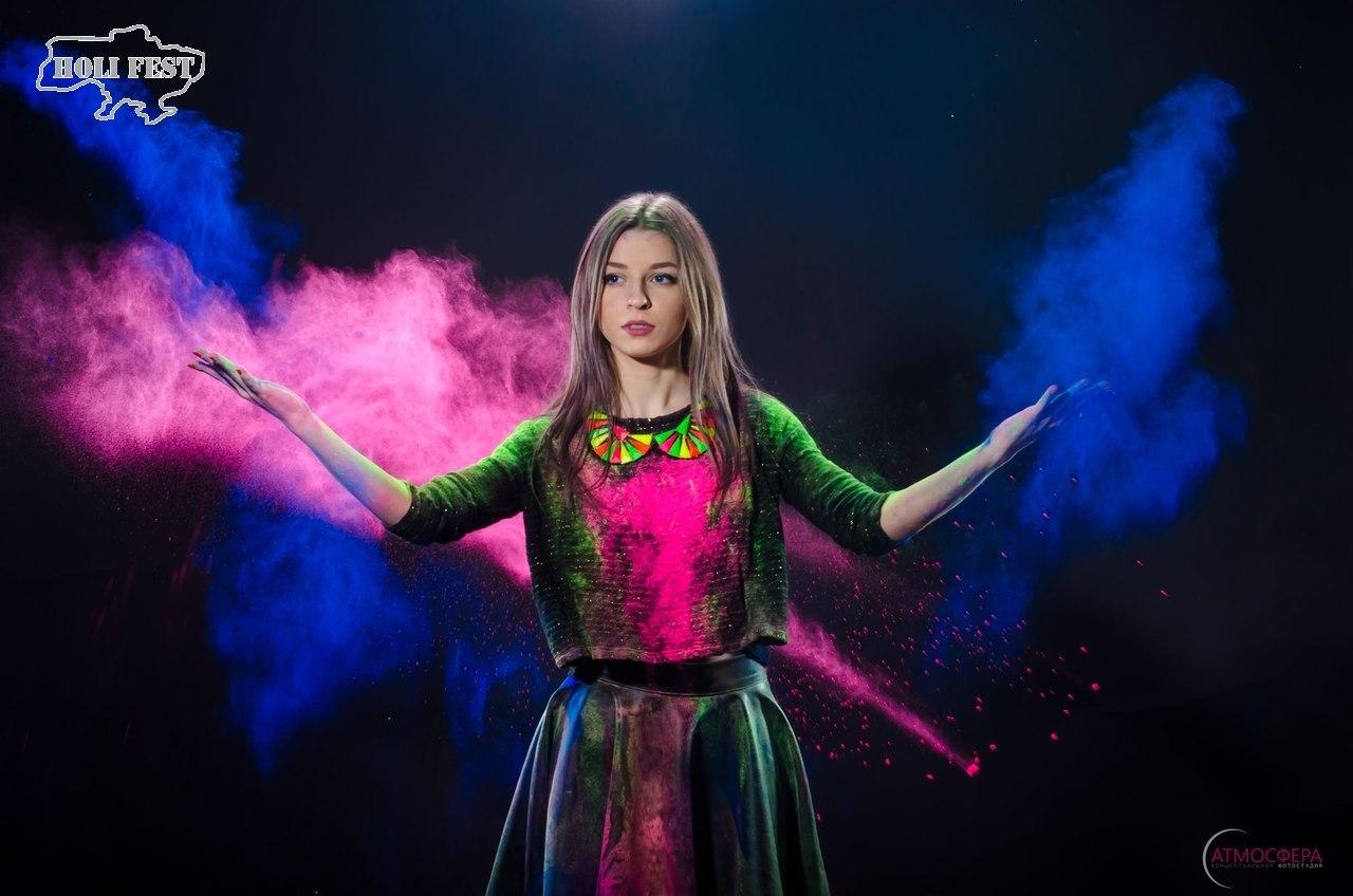 Фотосессия с сухими красками