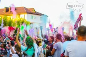 В городе Сарны прошел праздник красок холи!