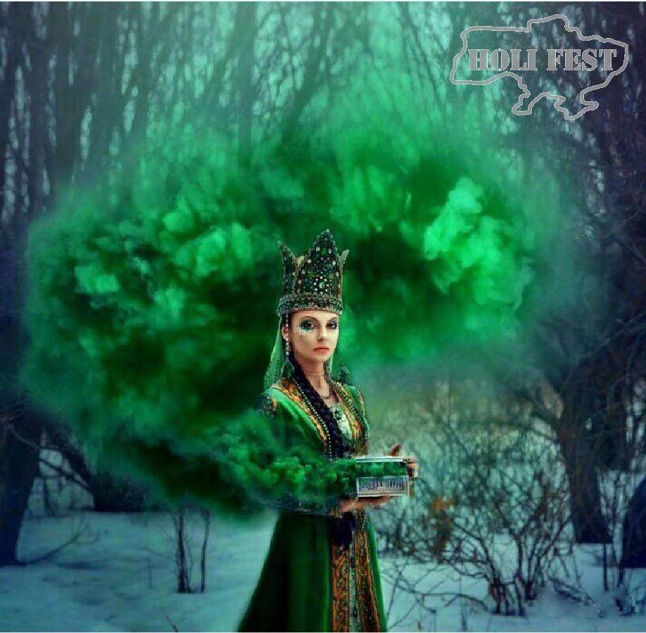 Мистическая фотосессия с цветным дымом