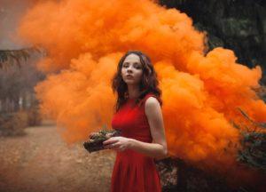 Фотосессия с цветным дымом - гениальная идея!