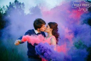 Романтическая фотосессия с цветным дымом!