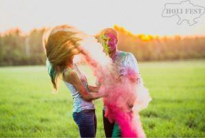 Весенняя фотосессия с красками холи!