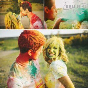 Яркая осенняя фотосессия с красками Холи!