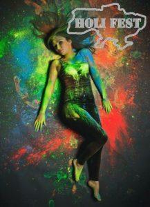 Фотосессия с сухими красками Холи в студии. Как подготовиться и идеи для фото.